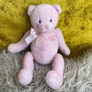 Gund Vntg Pink Baby My First Teddy Bear Plush Toy